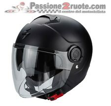 Casco jet moto maxi scooter Scorpion Exo Ciudad negro mate matt black