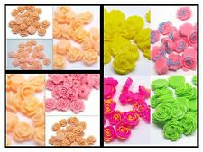 SALE!! 100 RESIN ROSES GLITTER TWO TONE PINK CABOCHON FLATBACK CASE CRAFTS UK