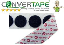 BLACK-Genuine VELCRO Brand PS14 Self Adhesive Hook & Loop Dots/Coins 22mm/2.2cm