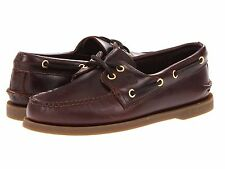 NEW MENS SPERRY TOP SIDER AUTHENTIC Amaretto Brown ORIGINAL BOAT SHOES NIB