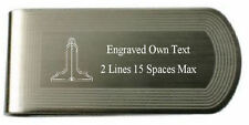 Masonic Engraved Money Clip Senior Warden Silver Gold Lodge Name Number Text