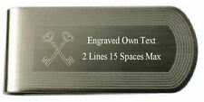 Masonic Engraved Money Clip Treasurer Silver Gold Lodge Name Number Text