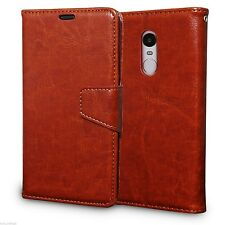 Premium Quality Leather Magnetic Lock Wallet Flip Cover  for Xiaomi Redmi Note 4