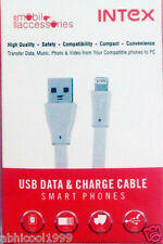 "BRANDED ""INTEX"" USB SYNC CUM CHARGING DATA CABLE FOR iPAD 2/iPHONE 4/5/5s/6/6s/7"