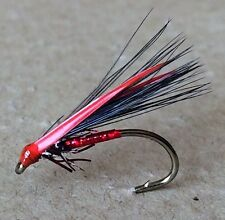 3 Competition Special Cormorant Trout Flies. Red Holo