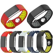 Sport Silicone Replacement Watch Band Strap Bracelet For Fitbit Charge 2 Tracker