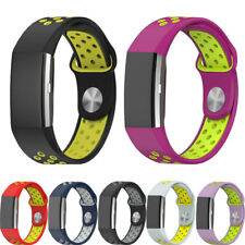 Replacement Silicone Wrist Strap Watch Band For Fitbit Charge 2 Bracelet Tracker