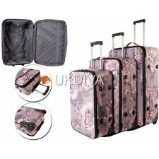 PINK FLORAL BUTTERFLY Suitcase Cabin Bag On Board Trolley Hand Luggage 2 WheelS