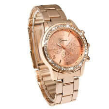 Geneva Bling Crystal Women Girl Watch Unisex Stainless Steel Quartz Wrist Watch1