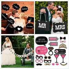 Photo Booth Party Wedding Xmas Props On Stick Masks Mustache Glasses Lips FUN