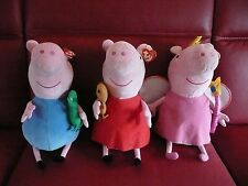 TAGGED**GIANT JUMBO LARGE TY GEORGE FAIRY PRINCESS PEPPA PIG PLUSH SOFT TOY**VGC