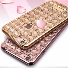 ★ LUXURY Diamond Bling Clear Silicone Case Glitter Bumper Cover ★ APPLE iPHONE ★