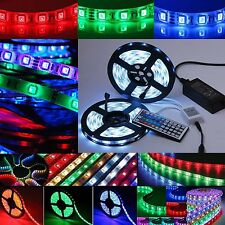 5m 10m LED RGB SMD5050 30/60 LEDs Streifen Strip Band Leiste + Controller+ Trafo
