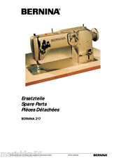 BERNINA 217 217N* Choice of Instructions or Service manual / Parts * CD or DWNLD