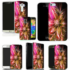 hard back case cover for many mobiles - pink funky flowers