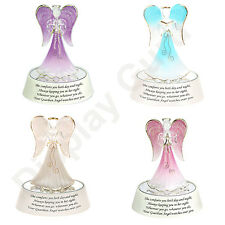 Light Up Guardian Angel in Pink White Purple Blue Praying on a mirrored box