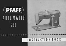 PFAFF 260 360 262 362 Automatic Instructions or Service & Parts manuals PDF / CD