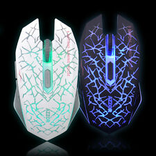 Azzor Rechargeable Wireless Mouse Mice Laser Gaming 2400 Dpi 2.4G Fps Gamer Si 0