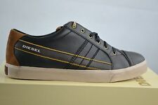 Diesel D-string low bungee cord black Leder leather Shoes Schuhe Sneakers