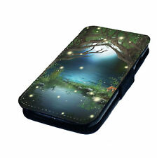Enchanted Fairy Forest Printed Faux Leather Flip Phone Cover Case Magic #1