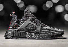 Adidas NMD XR1 PrimeKnit Core Black Red Men's Trainers All Sizes BA7214