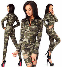 Sexy Women's Military Denim Jeans Playsuit Jumpsuit Overall Skinny Slim D 673