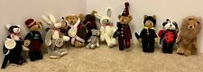 T. F. Wuzzies Boyds Bears 12 Piece Figure Toy Lot With Tags RARE Costumes/NWT