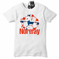 Norway Football T ShirtMens Boys Norwegian tshirt tee Top Gift Euros Train B40