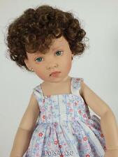 "BROWN CURLY DOLL WIG SIZE 6/7"" FITS VINTAGE AND MODERN DOLLS"