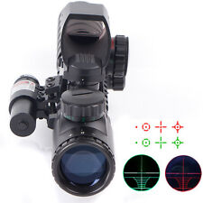 Tactical Rifle Scope3-9X32EG Sight With Holographic Reticle Sight & Red Laser