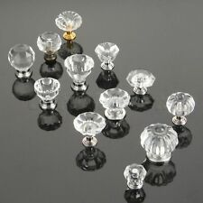New Clear Crystal Wardrobe Cabinet Drawer Door Handle Pull Box Cupboard Knobs