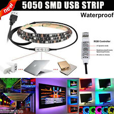 1/2m RGB Tira LED Luz Multicolor USB CABLE LED TV fondo Iluminación Equipo
