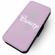 Beauty Rose (Pink) Printed Faux Leather Flip Phone Cover Case #2