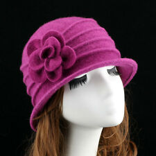 New Middle Aged Women Dome Fedora 100% Wool Hat Mom Hats For Autumn And Winter S