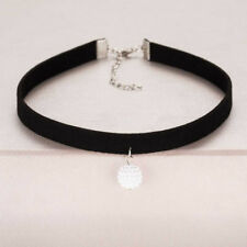 Fashion Black Rope Resin Pendant Choker Necklaces Jewelry For Women