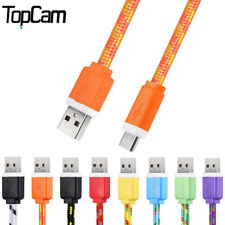 Fabric Nylon Braided Micro USB Cable Charger Data Sync USB For Samsung Galaxy