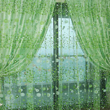 Chic Room Floral Pattern Voile Window Sheer Voile Panel Drapes Curtains