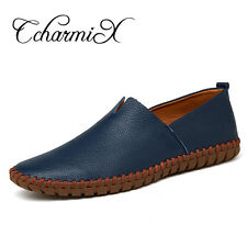 Genuine Cow leather Mens Loafers Slip On Men's Boat Shoe
