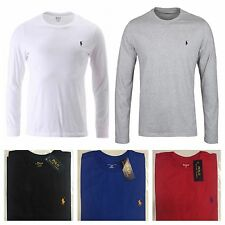 Mens Ralph Lauren Polo Crew Neck Long Sleeve Custom Fit S M L XL