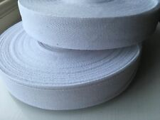 White Bunting Tape - 25mm Wide - Various lengths - 1 metre to 50 metres