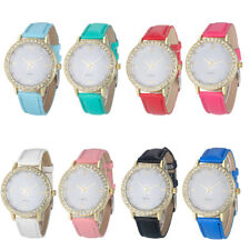 Casual Women Watch Fashion Montre Women'S Crystal Diamond Watches Analog Leather
