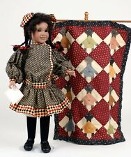 Zudies Coverlet wood and porcelain art doll by Wendy Lawton MIB! NRFB!