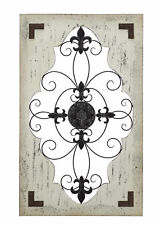 Stylish And Classic Inspired Cunninghamia Wood Metal Wall Decor Home Decor