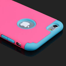 For Apple iPhone Luxury Double Layer Rugged Hybrid Rubber Hard Cover Case