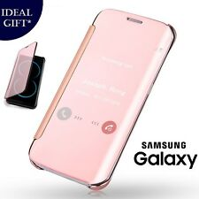 Rose Gold Mirror Flip Leather Protect Case Cover For Samsung Galaxy S8 / S8 Plus