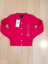 Ralph Lauren Girl's Pink Cable Knit Cardigan For 2 Years BNWT
