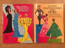 Tom Tierney Great Fashion Designs of the Thirties & Fifties Paper Dolls Lot of 2