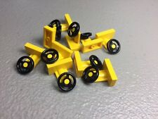 NEW Yellow LEGO Steering Wheel Stand Vehicle Car Parts (Lots of 10 or 25)
