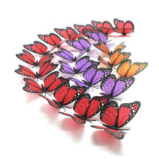 Sparkle Beautiful 3D Butterfly Wall Stickers Diy Home Decor With Magnet & Glue D