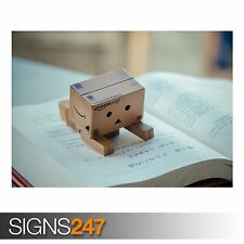 DANBO READING BOOK (AD562) FUNNY POSTER - Photo Poster Print Art A0 A1 A2 A3 A4